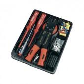 Autóelektronikai szerelőkészlet, csavarhúzókkal, krimpelő fogóval és csúszósaru készlettel Mannesmann