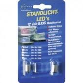 Eufab LED-es helyzetjelző 12V BA 9S, fehér, 1 pár