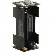 Velleman BH443D Elemtartó 4x Mikro (AAA) Forrasztható csatlakozó (H x Sz x Ma) 53 x 27 x 25 mm