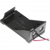 Velleman BH9V Elemtartó 1 9 V-os Kábeles (H x Sz x Ma) 55 x 31 x 20 mm