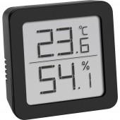 TFA Dostmann Hőmérséklet- és légnedvesség mérő Fekete