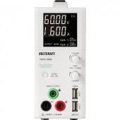 Digitális labortápegység, 2 USB kimenettel 1 - 60 V/DC 0.25 - 1.6A 100 W VOLTCRAFT TOPS-3602