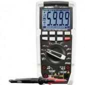 Digitális multiméter, IP65 por és vízálló True RMS mérőműszer, LED lámpával 1000V AC/DC 10A AC/DC Voltcraft VC-450 E