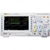 Digitális oszcilloszkóp Rigol DS2102A 100 MHz 2 csatornás 1 GSa/mp 7 Mpts 8 bit Kalibrált ISO Digitális memória (DSO)
