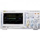 Digitális oszcilloszkóp Rigol DS2302A 300 MHz 2 csatornás 1 GSa/mp 7 Mpts 8 bit Kalibrált ISO Digitális memória (DSO)