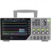 Digitális oszcilloszkóp VOLTCRAFT DSO-1104F 100 MHz 4 csatornás 1 GSa/mp 64 kpts 8 bit Digitális memória (DSO), Függvénygenerátor