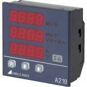 Camille Bauer Sineax A210 Digitális beépíthető mérőműszer Többfunkciós beépített teljesítménymérő