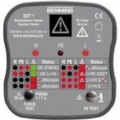 Konnektor teszter, hálózati csatlakozó bekötés vizsgáló Benning SDT 1