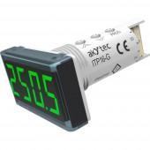 akYtec ITP16-G Digitális beépíthető mérőműszer Hőmérsékleti kijelző ITP16 (zöld)