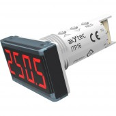 akYtec ITP16 Digitális beépíthető mérőműszer Hőmérséklet kijelző ITP16 (piros)
