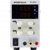 Basetech Labortápegység, szabályozható 0 - 30 V 0 - 5 A 150 W Dugaszcsatlakozó, 4 mm Vékony kivitel Kimenetek száma 1 x