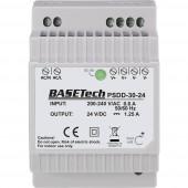 Basetech PSDD-30-24 Kalapsínes tápegység 24 V 1.25 A 30 Wp 2 x