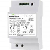Basetech PSDD-60-24-2 Kalapsínes tápegység 24 V 2.5 A 60 W 2 x
