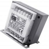 Block EL 18/12 Vezérlő transzformátor, Leválasztó transzformátor, Biztonsági transzformátor 1 x 230 V/AC 2 x 12 V/AC 18 VA 750 mA