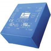 Block FL 10/12 Nyomtatott áramköri transzformátor 2 x 115 V 2 x 12 V/AC 10 VA 415 mA