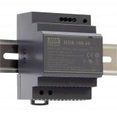 Mean Well HDR-100-24N Kalapsínes tápegység 24 V/DC 4.2 A 100.8 W 1 x
