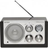 Asztali retro rádió, audio bemenettel, fekete színű Denver TR-61
