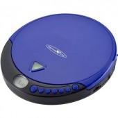Discman, hordozható CD, MP3 lejátszó, CD, CD-R, CD-RW, MP3, FM rádióval kék színű Reflexion PCD510MF
