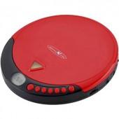 Discman, hordozható CD, MP3 lejátszó, CD, CD-R, CD-RW, MP3, FM rádióval piros színű Reflexion PCD510MF
