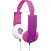 Fejhallgató gyermekeknek, hangerőszabályozóval, lila/rózsaszín, JVC HA-KD5-VE