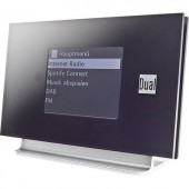 Internet Rádió adapter Dual Radio Station IR 3A Bluetooth® DLNA-ra alkalmas, Spotify Fekete, Ezüst