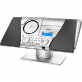 Karcher MC 6550(N) Sztereo berendezés AUX, CD, Kazetta, URH, Falra szerelhető Ezüst