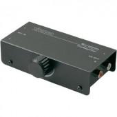 Mikrofon előerősítő, MA-225 2 mikrofon bemenet, 6,3 mm-es jack · Monó-/sztereó átkapcsoló · Hangkimenet, RCA.