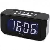 Nagykijelzős digitális ébresztőóra, rádiós ébresztőóra, fekete színű SoundMaster FUR4005