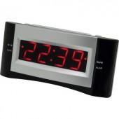 Órás rádió, URH rádiós LED-es ébresztőóra USB töltővel, fekete színű SoundMaster UR122SW