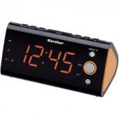 Órás rádió, URH rádiós ébresztőóra nagy LED kijelzős Karcher UR 1040
