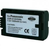 CGR-D120 Hitachi, Panasonic kamera akku 7,2 V 900 mAh, Conrad energy