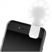 LED-es vaku, lámpa mobiltelefonhoz, rugós csipeszes felfogatással Basetech Selfie Light