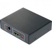 2 portos HDMI splitter HD képes 1920 x 1080 pixel, fekete, SpeaKa Professional 4016138822212