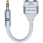 3,5 mm-es jack elosztó kábel, Oehlbach iConnect Y