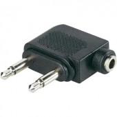 Adapter 2x jack dugó, 3,5MM mono jack alj