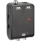 D/A konverter, koax és optikai Toslink jel átalakító audió konverter 2RCA-ra SpeaKa Professional 1274945