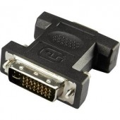 DVI - VGA átalakító adapter, 1x DVI dugó 24+5 pól. - 1x VGA aljzat, fekete, Renkforce