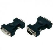 VGA - DVI átalakító adapter, 1x VGA dugó - 1x DVI aljzat 24+5 pól., fekete, Digitus