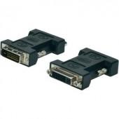 DVI átalakító adapter, 1x DVI dugó 24+1 pól. - 1x DVI aljzat 24+5 pól., fekete, Digitus