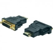 HDMI - DVI átalakító adapter, 1x HDMI dugó - 1x DVI dugó 24+5 pól., fekete, Digitus