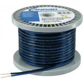 Hangszóró kábel 2 x 0,8 mm² kék/fekete, 30m, Tru Components 93030c483