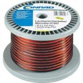 Hangszóró kábel 2 x 0,8 mm² piros/fekete, 100m, Tru Components 93030c484