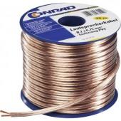 Hangszóró kábel 2 x 1.50 mm² Átlátszó TRU COMPONENTS 1564533 30 m