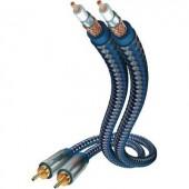 RCA audio kábel, 2x RCA dugó - 2x RCA dugó, 1,5 m, OFC, aranyozott, kék/ezüst, Inakustik 671912