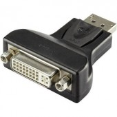 DisplayPort - DVI átalakító adapter, 1x DisplayPort dugó - 1x DVI aljzat 24+5 pól., fekete, Renkforce