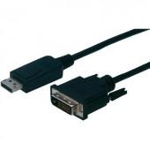 DisplayPort / DVI csatlakozókábel [1x DisplayPort dugó - 1x DVI dugó 24+1 pól.] 3 m fekete