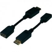 DisplayPort - HDMI átalakító adapter, 1x DisplayPort dugó - 1x HDMI aljzat, fekete, Digitus