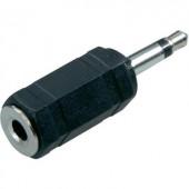 Monó 3,5 jack dugó/sztereó 3,5 jack aljzat átalakító adapter, fekete, SpeaKa Professional 50087