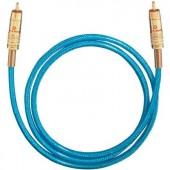 Digitális RCA audio kábel, 1x RCA dugó - 1x RCA dugó, 1,5 m, kék, Oehlbach NF 113