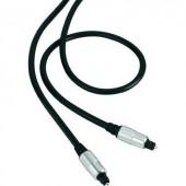 Digitális optikai audio kábel, 1x Toslink dugó - 1x Toslink dugó, 0,5 m, fekete, SuperSoft, Speaka Professional